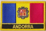 Andorra Embroidered Flag Patch, style 09.
